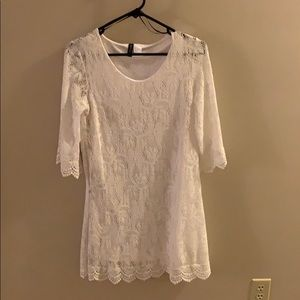 White lace dress! Great for a nice event!